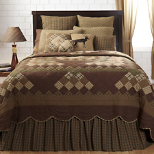 Barrington Queen King Patchwork 3 Piece Country Quilt Set by VHC Brands