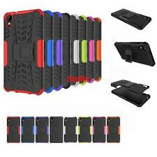 3D 2in1 Shockproof Skip Proof Grenade Grip Rugged Defender Hybrid Case For HTC