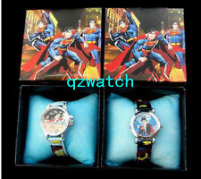 New 5/10/20/30 Pcs Superman Cartoon Children Watches W/Gift boxes Wholesale