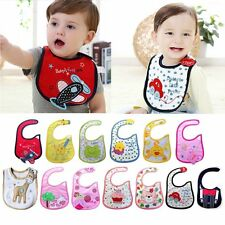 1pc cotton waterproof Baby Boys Girls Kids Children Bibs Saliva Burp Apron FY