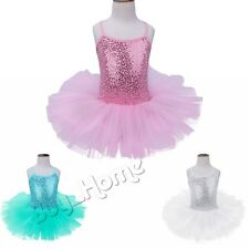 Toddler Girls Kids GYM Ballet Dress Leotard Dress Dance wear Unitards Costume