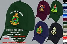 UNITS S-Z UK & FOREIGN ARMY ROYAL AIR FORCE NAVY RAF REGIMENT BASEBALL CAP HAT
