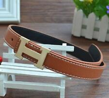New Fashion Casual Children Faux Leather Adjustable Belts For Boys & Girls Brown