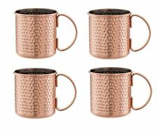 Moscow Mule Hand Hammered Copper Mug - 16 oz - Set of