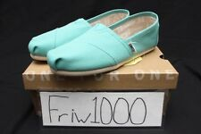 WOMENS TOMS CLASSIC SLIP ON TURQUOISE CANVAS 10009732