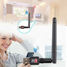 USB 150M 150Mbps Wireless LAN Adapter 802.11b/n/g WiFi 2dBi Antenna LOT NEW R8