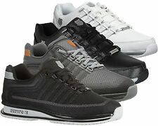 Mens K-Swiss Real Leather Trainer Mesh Casual Designer Lace up Walking Shoe