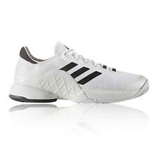 Adidas Barricade 2017 Mens White Tennis Court Sports Shoes Trainers Sneakers
