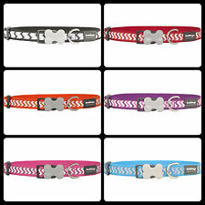 Red Dingo Reflective Nylon Ziggy Dog COLLAR - Choice of Colours and Sizes