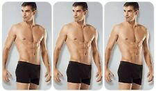3-PACK MENS STRETCH COTTON BOXER BRIEFS TRUNKS UNDERWEAR M L XL XXL