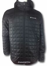 Columbia mens Omni Heat insulated hooded winter jacket coat Black S M L XL XXL