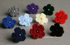 4 or 6 Girl Flower School Hair Bobbles Ponios Various Colour