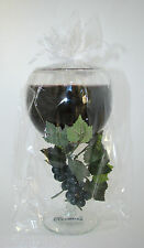 NEW SCENTED WINE GLASS+GRAPE VINE TEA LIGHT CANDLE HOLDERS  MARLOT,CABERNET,RED