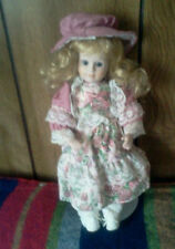 17' Porcelain Victorian Doll/ Vanessa Collection/ Made by Vanessa Ricardi/w.COA