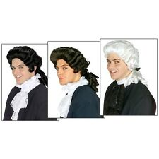 Colonial Wigs Adult Mens Founding Fathers 18th Century Costume Fancy Dress