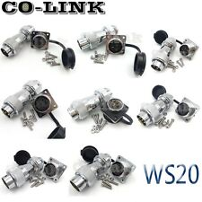 WS20 2pin to 12Pin IP65 Waterproof Connector Set Metal Connector Male Female