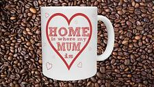 Home is Where Mum Is Novelty Mug Mothers Day Birthday Christmas Gift Present