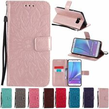 Fashion Pattern Flip Leather Wallet Stand Case Cover F Samsung Galaxy Note 5 4 3