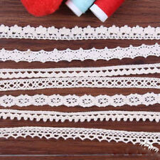 5Meter Lace Trims Ribbon Cotton Crochet Edge Applique Fabric Sewing Craft B267J