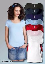 KARIBAN Ladies Short Sleeve T-Shirt with round neck in 7 Colours Size XS to XXL