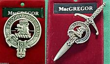 MacGregor Scottish Clan Crest Badge or Kilt Pin Ships free in US