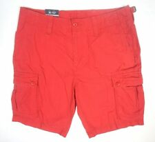NEW MENS NAUTICA SAILOR RED RIPSTOP MODERN FIT MICRO CHECKERED CARGO SHORTS