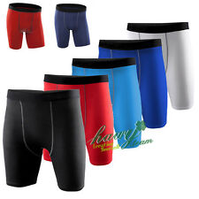 Mens Sports Shorts Gym Skin Tights Compression Base Under Layer Fitness Pants