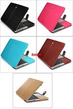 Full Protect Flip Magnet Leather Sleeve Case Bag for Macbook Pro 13 15 Touch Bar