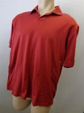 mens TRICOTS ST RAPHAEL red short sleeve polo golf shirt sz LARGE CLEAN