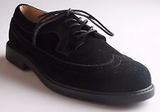 G.H. Bass & Co. Black Leather Suede Barret Wing Tip Oxford Casual Dress Shoes NW