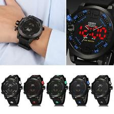 Cool Mens OHSEN Sport Waterproof Watch LED Digital Analog Quartz Wrist Watch