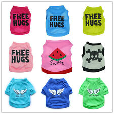 Pet Shirt Puppy Summer T-Shirt Small Dog Cat Pet Clothes Costume Apparel XS S M