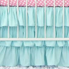 One Qty Ruffle Bed Skirt Egyptian Cotton 1000 TC Aqua Blue Solid Drop 15 Inch