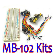 New MB-102 Solderless Breadboard Protoboard Prototype 830 Tie Points Test Stock