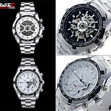 UK Luxury Mens Stainless Steel Automatic Mechanical Date Sport Wrist Watch Black
