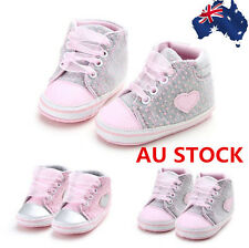 0-18 M Newborn Toddler Baby Girls Casual Soft Sole Lovely Crib Shoes Prewalker