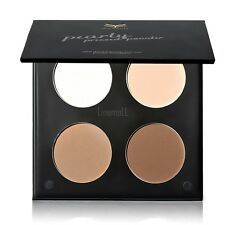New Makeup 4 Colors Shimmer Matte Eye Shadow Palette Face Contour and Glow LM01