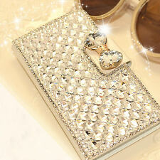 Luxury Bling Bowknot Crystal Diamond Wallet Flip Case Cover For Various Phone