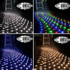 100 LED Net Fairy Light Mesh Lighting Xmas Christmas Party Wedding Lights LM