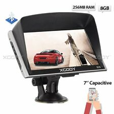 XGODY Car 7'' GPS Navigation SAT NAV System Bluetooth 8GB 256MB RAM Maps Updates