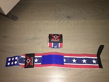 RCG Power Weight Lifting Wrist Wraps Supports Gym Training Fist Straps USA 15""