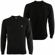Gabicci Vintage Mens Charcoal Black Polo Shirt Collared Button Up Top S – 3XL