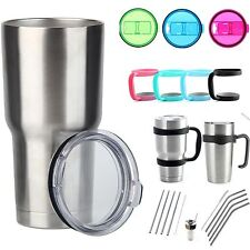 For Yeti Rambler Rtic Tumbler Cup 20 30 oz Replacement  Lid Handle Holder Straws