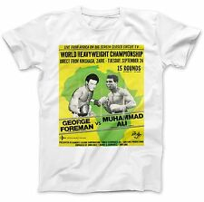 Rumble In The Jungle T-Shirt 100% Premium Cotton Foreman Ali