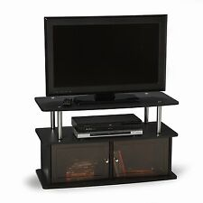 TV Stand with 2 Cabinets for Flat Panel TV's Up to 36-Inch or 80-Pound, Dark...