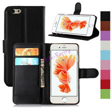 Folio PU Leather Wallet Card Flip Case Cover For iPhone 4s 5s SE 5C 6 6s 7 Plus