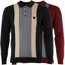 Gabicci Vintage Mens Knitted Polo Shirt Long Sleeved Knitwear Top Sizes S-3XL