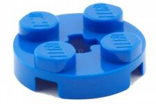 LEGO 17 x Plate, Round 2 x 2 with Axle Hole - Blue
