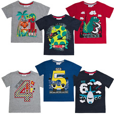 Boys I Am Age Number T-Shirt Top Size 1,2,3,4,5,6 Years