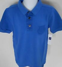 GAP KIDS Boy's Blue Short Sleeve Polo Shirt Size XS(4-5)